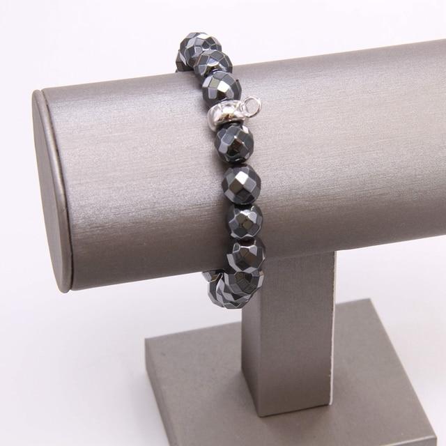Купить матовый и зигзагообразный эластичный браслет thomas black obsidian картинки