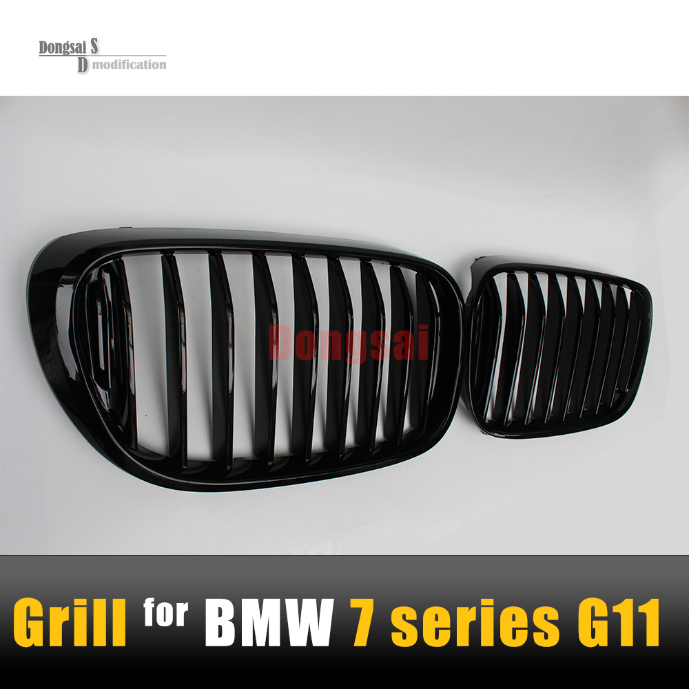 G11 Replacement ABS Grill G12 Gloss Black M Performance Look Grille For BMW 7 Series Styling G13 Front Single Slat Hood 2015+ e60 front grille for bmw 5 series e39 e60 abs m performance style front bumper grille
