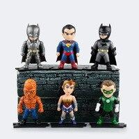 6pcs/set Justice league superman Wonder flash batman Action Figure PVC Collection Model toys brinquedos for christmas gift