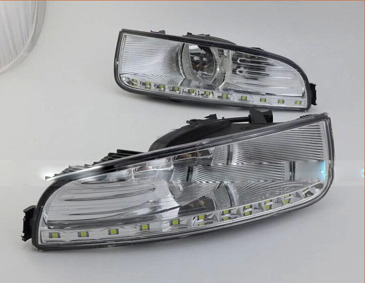 Car-styling,Superb day light,2009 2010 2011 2012,LED,Free ship!car-detector, Superb fog lamp,car-covers,FABIA,YETI,Superb hot sale abs chromed front behind fog lamp cover 2pcs set car accessories for volkswagen vw tiguan 2010 2011 2012 2013