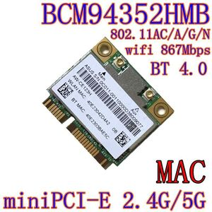 Image 1 - AzureWave AW CE123H BCM4352 BCM94352HMB Half Mini PCIe PCI express 802.11AC 867Mbps Wireless WIFI WLAN Bluetooth Card