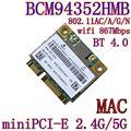 Azurewave AW-CE123H BCM4352 BCM94352HMB половина мини PCIe pci-разрядный экспресс 802.11AC 867 Мбит беспроводной wi-fi WLAN , Bluetooth