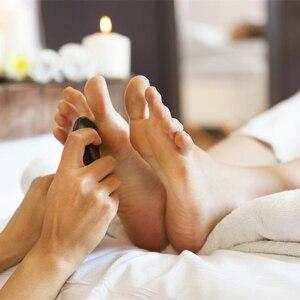 Image 3 - Sıcak taş masajı lava taşlar doğal enerji masaj Spa taşlar Set kaya bazalt toptan vücut sağlık