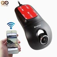 Видеорегистраторы для автомобилей Камера видео Регистраторы двухъядерный Беспроводной Wi-Fi FHD 1080 P 160 Широкий формат автомобиля регистратор...