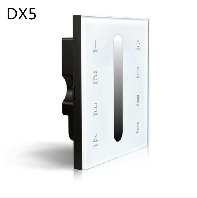 DX5 Led DMX Dimmer led controller touch 100-240v 86 Glass Panel DMX512 Multi Zone Dimming Dimmer controlador wireless switch coolsa new summer linen women slippers fabric eva flat non slip slides linen sandals home slipper lovers casual straw beach shoe page 2