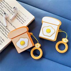 Симпатичное яйцо чехол для наушников для Apple Airpods чехол мультфильм силиконовый Bluetooth наушники крышка для Airpods аксессуары Чехлы для зарядки