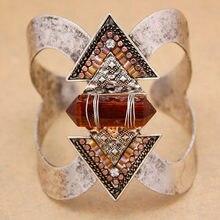 796934e83064 Vintage plata flecha piedras Zuni Navajo pulseras para mujeres grandes  brazaletes anchos Pulseiras Cuff nativo americano indio h.