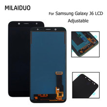 AMOLED/TFT LCD For Samsung Galaxy J6 2018 J600 J600F J600Y Display Touch Screen Digitizer Assembly Replacement Adjust Bright
