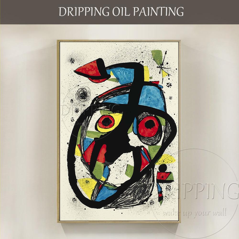 Artiste Pur peint à la Main de Haute Qualité Moderne Peinture Abstraite À L'huile Figure Unique Abstrait Portrait Peinture À L'huile pour la Décoration Murale