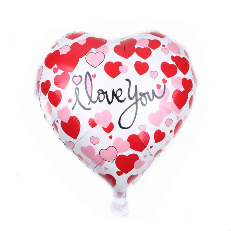 XXPWJ  New 18-inch heart-shaped love aluminum balloon wedding party Valentine's Day decorative balloon self-sealing  C-068