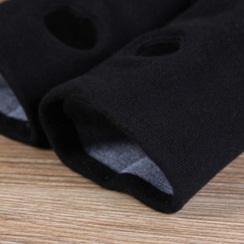 Fashion Unisex Stretch Cotton Knit Typing Gloves Men/Women Winter Warm Arm Crochet Fingerless Black Touch Screen Phone Glov A64