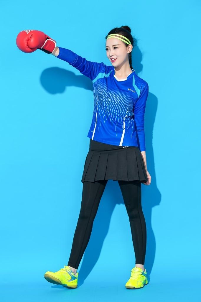 feminino terno calções de secagem rápida roupas de treino de manga longa