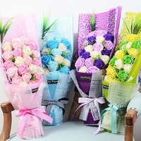 21 teile/schachtel Neue Stil Valentine Geburtstagsgeschenk Mädchen Seife Romantische Rose Blume für Hochzeitsdekoration Partei Wohnkultur ZA1780