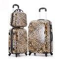 14 '' 20 '' 24 polegada Leopard impresso bagagem / mala de viagem com rodas ABS Retro / Vintage Designer sacos de Hardside