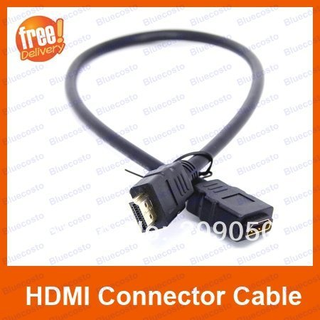 50cm HDMI M/F Male to Female Adapter Cord,HDMI Connector Cable Coupler For PS3 HDTV,Retail