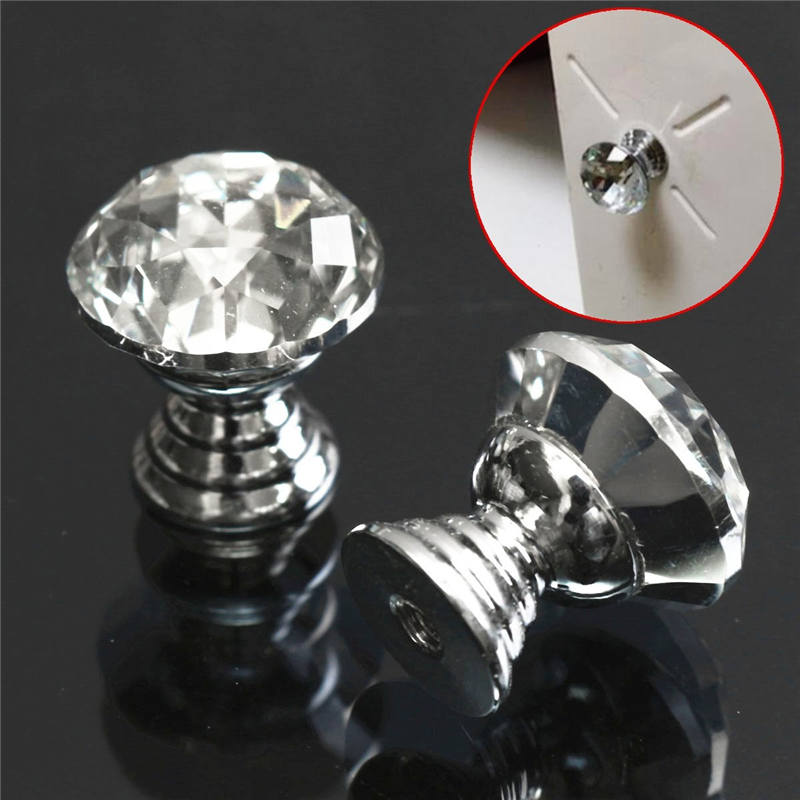 MTGATHER 10Pcs 20mm Diamond Crystal Glass Alloy Door Drawer Cabinet Wardrobe Pull Handle Knobs Drop Worldwide Store Beautiful mtgather 8pcs 40mm clear crystal glass diamond cut door knobs kitchen cabinet drawer knobs screw home decorating