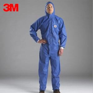 Image 1 - 3M 4532 معطف واقي غرف الأبحاث الملابس ومكافحة ساكنة مكافحة الكيميائية السائل سبلاش الإشعاع حماية فعالة الجسيمات