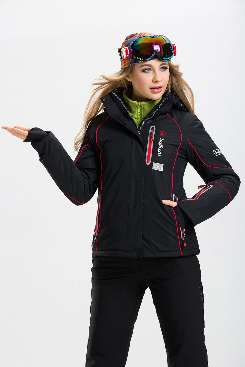 ФОТО Three Color Women Ski Jacket Windproof Waterproof Snowboard Skiing Warm Clothing Breathable Thicken Thermal Female New Coat Hot