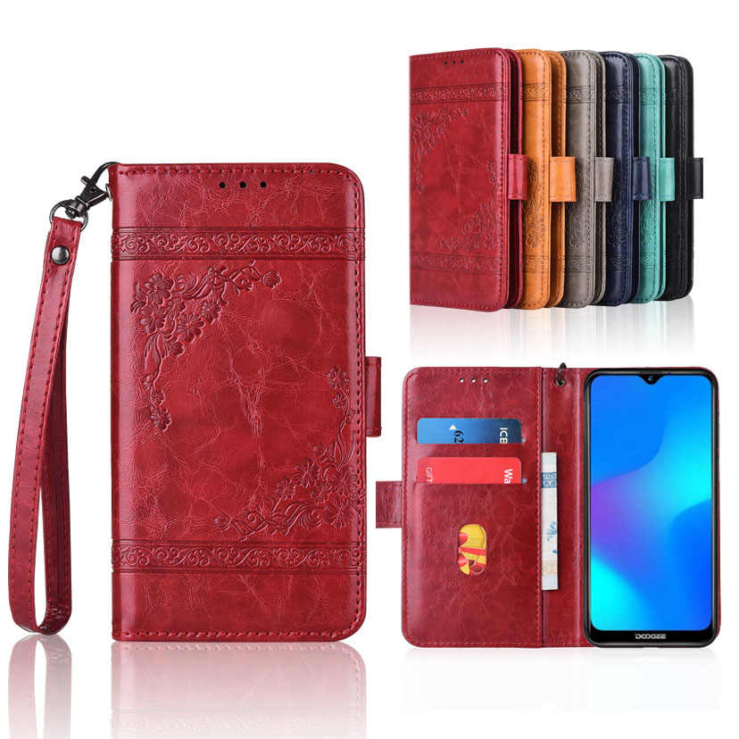 Wallet case for Doogee Y8 case with Strap,100% special PU leather Patterned Floral Flip Case
