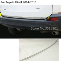 car cover Stainless steel Rear tail door bottom tailgate Trunk Lid Tail Gate trim 1pcs For Toyota RAV4 2014 2015 2016