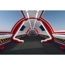 Laeacco Science Fiction Spaceship Interior Scene Photography Background Customized Photographic Backdrop For Photo Studio
