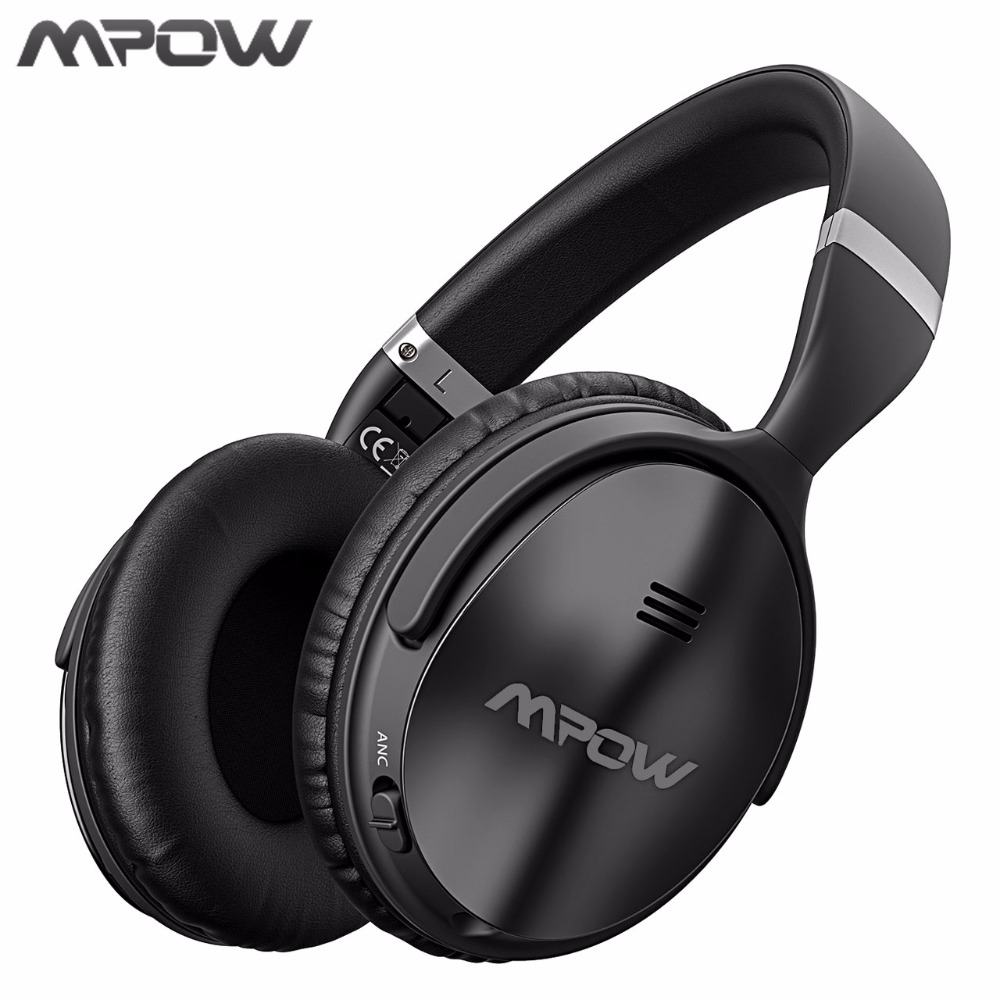 Mpow ANC Active Noise Cancelling Wireless Bluetooth Headphones Hi-Fi Stereo Headset With EVA Bag For iphone X Huawei TV Phones active noise cancelling bluetooth headphones wireless headset hi fi stereo deep bass stereo headphones with microphone for phone