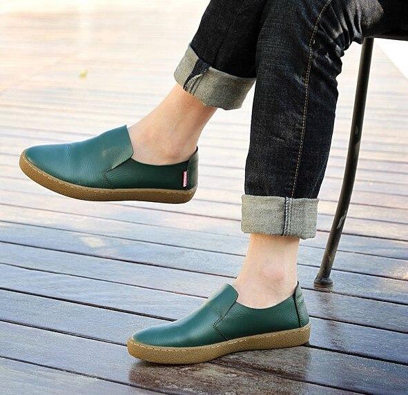 Zapatos verdes casual para hombre kulHmmZu