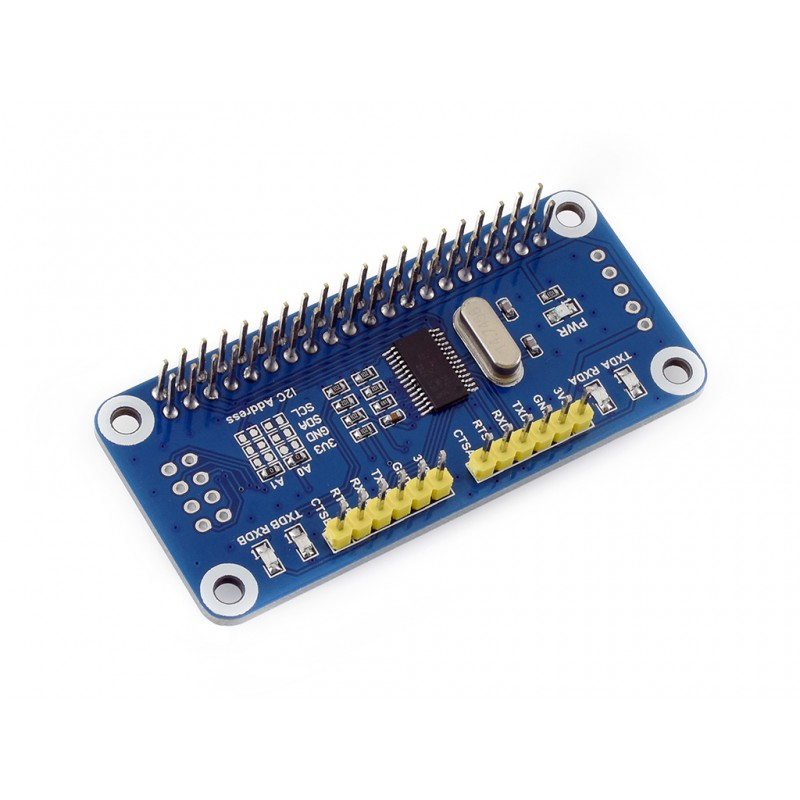 US $14 89  Serial Expansion HAT with I2C Interface Onboard SC16IS752  Expands 2 ch UART and 8 Programmable GPIO for Raspberry Pi 3 Pi Zero 0-in  Demo