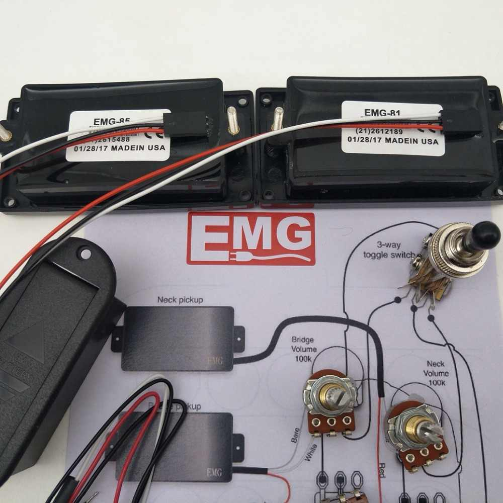medium resolution of detail feedback questions about emg 81 85 active pickup electric 25k guitar parts emg 81 85 active pickups wiring harness pots for
