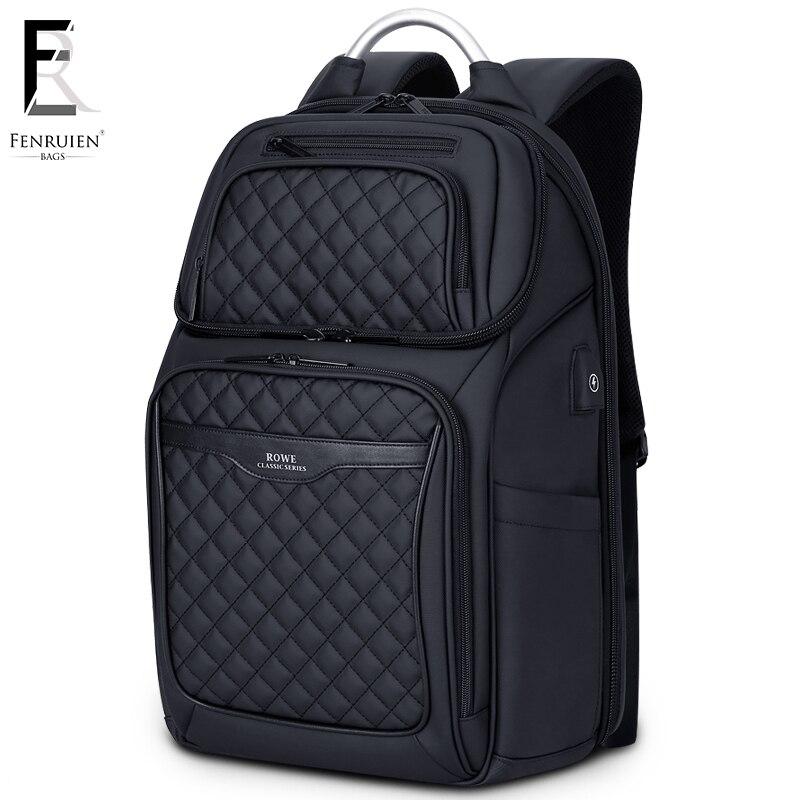 FRN Business USB sac de charge hommes 17 pouces sac à dos pour ordinateur portable étanche haute capacité Mochila antivol décontracté voyage sac à dos