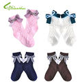 Baby Girls Socks Kids Children Girl Princess Socks Lace Ribbon Bowknot Spring Summer Cotton Socks Free Drop Shipping Wholesale