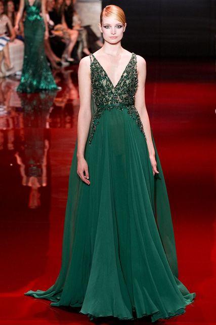 huge discount c1306 13e0b US $179.99 |Verde smeraldo in chiffon Elie Saab Alta Qualità Formale Abiti  Da Sera Abiti Negozi di Abbigliamento A Buon Mercato robe de soiree ...