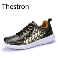 Shoes Men Running Breathable Light 2017 Autumn Sport Shoes Outdoor Sports Jogging Walking Sneakers Gray Gold