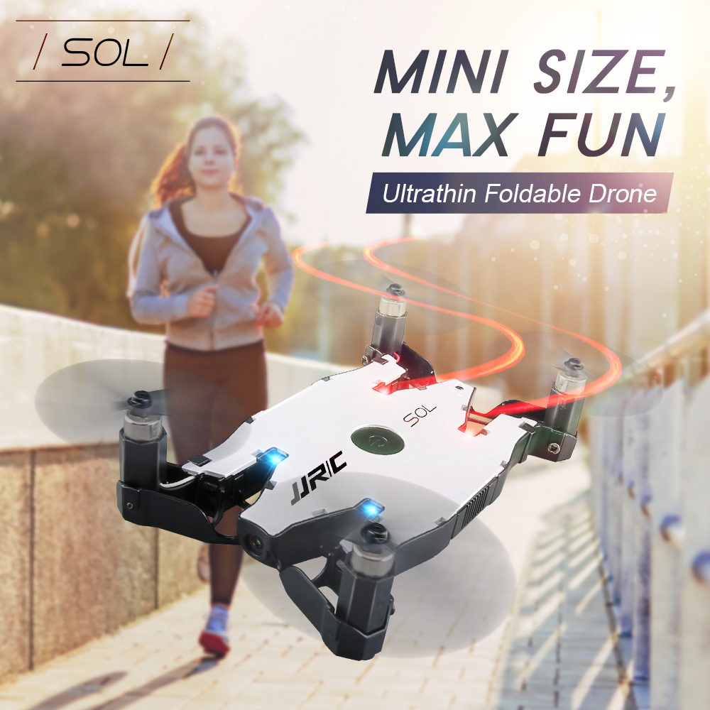 JJRC H49 SOL Ultrathin Wifi FPV Selfie Drone 720P HD Camera Auto Foldable Arm Altitude Hold RC Quadcopter RC Helicopter toy in stock eachine e57 wifi fpv selfie drone with 720p camera auto foldable arm altitude hold rc quadcopter rtf vs jjrc h49 h37