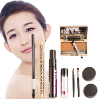 Women Value Pack Makeup Set Gift Gel Eyeliner Eye Liner Pen Eyebrow Pencil Sexy Lipstick Eyebrow Powder Mascara Tool Kit