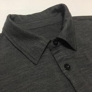 Image 1 - 100% australien Merino Täglichen Polo herren Kurzarm, herren Merino Wolle Täglichen Polo Hemd, 2 farben, 180GSM größe XS bis XL