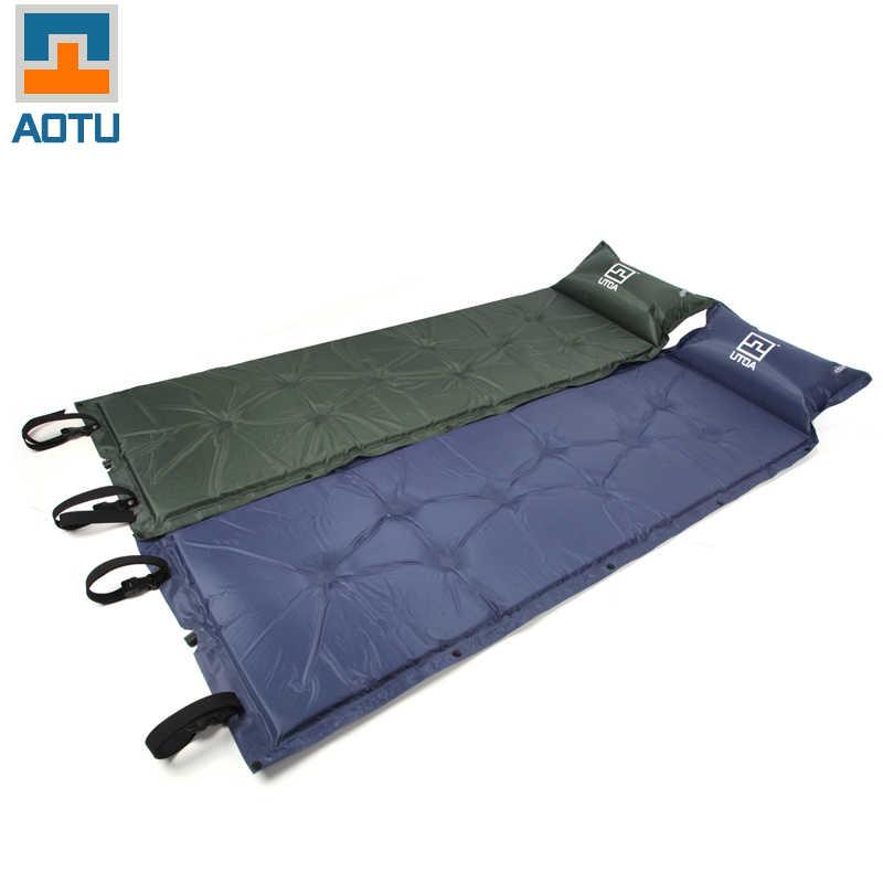Colchoneta inflable para acampar, para exteriores, cojín inflable, colchoneta inflable para dormir 185X55x2.5cm AT6203