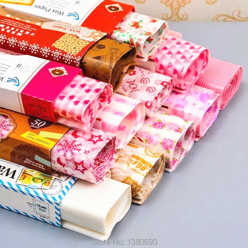 50Sheet/lot Wax Paper Food Wrapping Paper Greaseproof