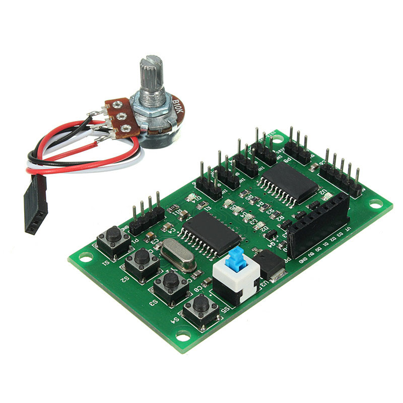 Electronic Components & Supplies Dynamic 1pc New Programmable 2/4 Phase 4/5 Wire Stepper Motor Driver Control Board Robot Car Diy 800ma 5-24v Durable Modules Board