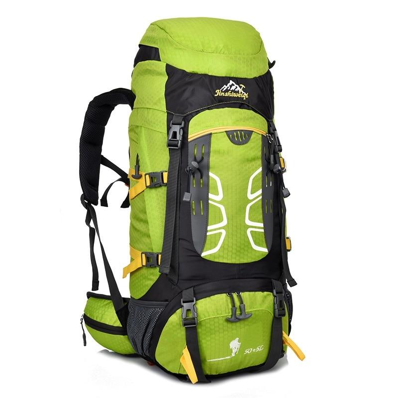 50 + 5L szabadtéri sporttáska vízálló nylon hegymászó táska túrázás hátizsák 182