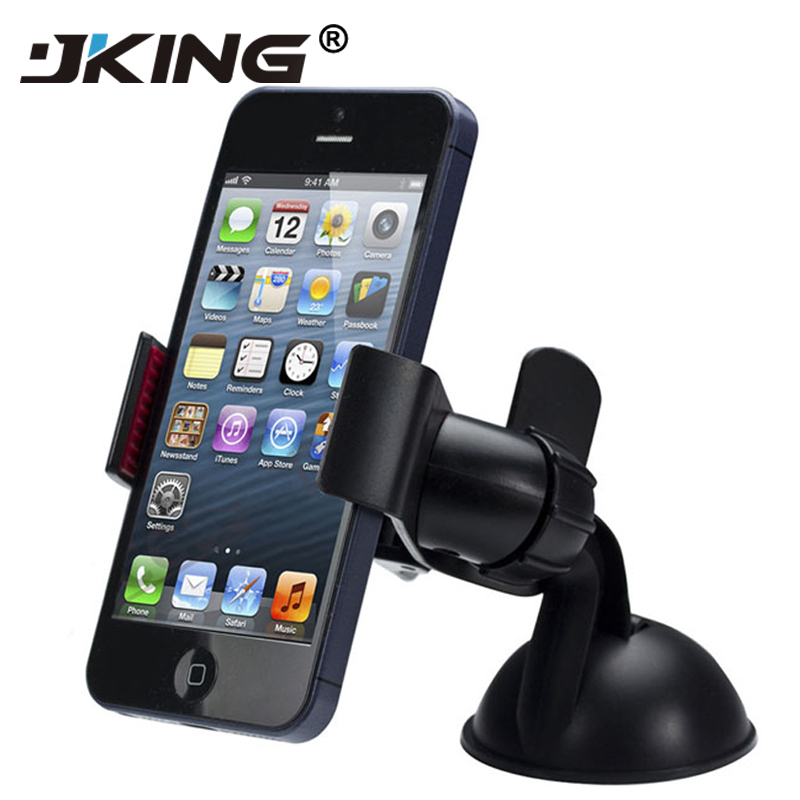 JKING Top Sale New Balck White Universal Car Holder Car Windshield Mount Holder Phone For IPhone 6/7/8/X MP3 GPS For Samsung