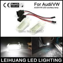 Luzes de Cortesia das Portas do carro Lâmpadas Branco CAN-bus LED fit Para Audi A3 A4 A5 A6 A7 Q5 Q7 TT 12 v