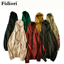 Fidiori 2017 new fashion cotton loose men hoodies sweatshirt zipper decoration personality hoodies men.(China)