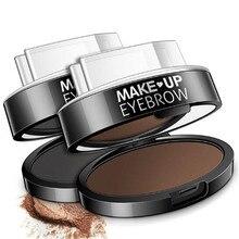 New Fashion Eyebrow Powder Seal Shadow Set Waterproof Stamp Natural Shape Brow