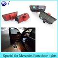Automóviles luces de fuente de luz LED de la puerta de coche bienvenido proyector láser logo emblema para Mercedes Benz w204 C200 C260 C350 C300 C235