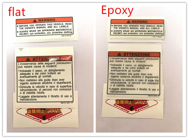Motorcycle Stickers For Yamaha Honda Ducati Bmw Fuel Tank Standard Anese Warning Label English