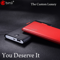 Binli Genuine Leather 8000mAh Power Bank For Mobile Phone Portable Charger Battery Pack For Iphone 5s