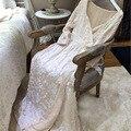 Frete Grátis Longo das Mulheres de Inverno Robe de Veludo Bordado do Tornozelo-Comprimento Sleepwear Real Princesa Camisola Engrossar Roupões