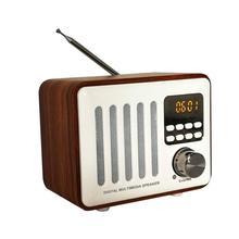 Haut-parleur Bluetooth boîte en bois rétro sans fil FM Radio lecteur multimédia numérique 2019new
