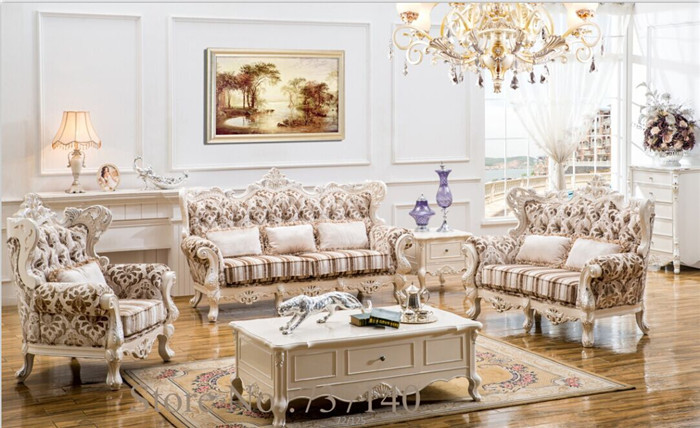 Wood And Genuine Leather Living Room Sets Sofa Set Living